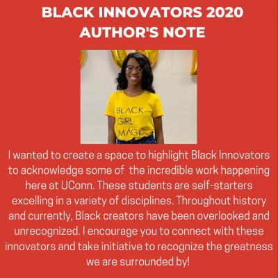 Black Innovators 2020 Author's Note Graphic